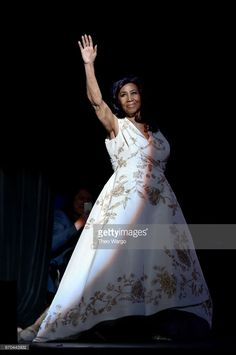 Aretha Franklin performs onstage during the 'Clive Davis: The Soundtrack of Our Lives' Premiere Concert during the 2017 Tribeca Film Festival at Radio City Music Hall on April 19, 2017 in New York City.