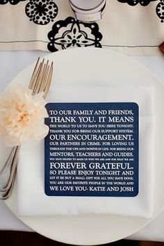 A must for the wedding! Take the place of a sappy speech? Way to add color to the table