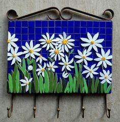 Mosaic Garden Art, Mosaic Art, Mosaic Glass, Mosaic Tiles, Paper Mosaic, Mosaic Crafts, Mosaic Projects, Mosaic Flowers, Glass Flowers