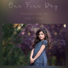 Join me on June 9, 2018 for One Fine Day in Philly! Location: Philadelphia, PA Zip Code:  19468Time: 4pm - Sunset This is a 4 hour workshop with a styled shoot of 2-4 child models.    I will be covering everything from finding the light, styling, child interactions, post processing, and all the tools you will need to advance in your craft.  I am an open book and you are free to ask me anything.  You will receive a detailed edit of our shoot together within 3 days of ...