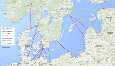 Mit dem Schiff nach Schweden - Reiserouten und Fährgesellschaften Deutschland - Schweden, Deutschland - Dänemark, Dänemark - Schweden, Polen - Schweden