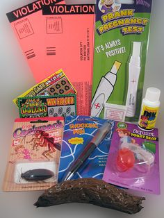 TEASE YOUR PARENTS PRANK KIT....... Drive your parents crazy with our Tease Your Parents Prank Kit. It's loaded with all kinds of gags to make them look ridiculous. www.theonestopfunshop.com