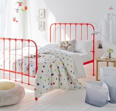 painted metal bed frame