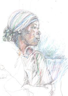 Guido Michl, One nation, Graphit / Buntstift auf Papier, 29,7 x 21 cm, 2009, 250 €