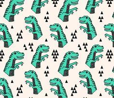 dinosaur fabric // dino kids nursery baby geometric triangles baby dino t rex fabric by andrea_lauren on Spoonflower - custom fabric Pattern Texture, Surface Pattern Design, Pattern Art, Dinosaur Fabric, Dinosaur Pattern, Motifs Textiles, Textile Patterns, Textile Design, Dinosaur Light