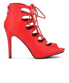 Yepme Red Tie Up Stilettos