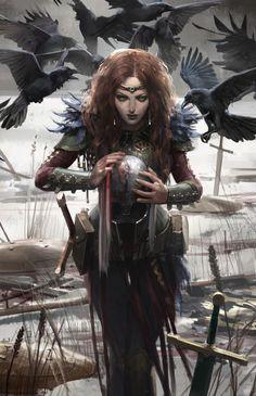 A place to share and appreciate fantasy and sci-fi art featuring reasonably portrayed women. Fantasy Women, Fantasy Rpg, Medieval Fantasy, Fantasy Artwork, Dark Fantasy, Fantasy Inspiration, Character Design Inspiration, Character Portraits, Character Art