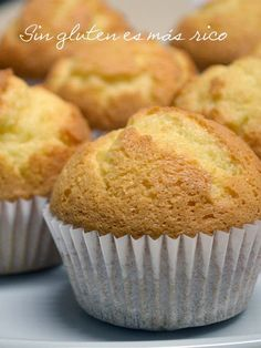 Sin gluten es más rico: Magdalenas de nata sin gluten ¡Espectaculares!