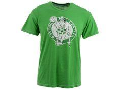 Boston Celtics Industry Rag NBA Distressed Logo Contrast Stitch T-Shirt