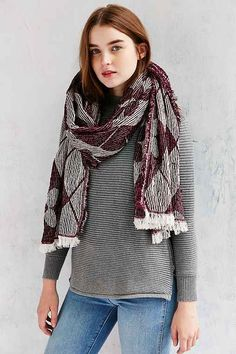 Cold weather fashion favorites. cozy sweater & knit scarf