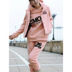 FL903-7,cheap Fall and Winter New Fleece three-piece Hoodie suit... via Polyvore
