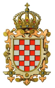 coat of arms kingdom of croatia Eslava, Banner, Asian History, British History, Chivalry, Family Crest, Central Europe, Crests, Monogram Letters