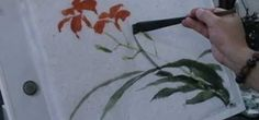 TheHake brush is a type of flat brush used in Chinese painting along with the more typical trimmed brush. In this video the artist demonstrates the use of such a brush to create painting of an Iris with a blue butterfly and some calligraphy to finish it off. If you don't already have a Hake brush as part of your Chinese art toolkit, this video should convince you to invest in one.