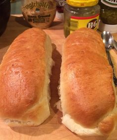 Hoagie Rolls Recipe by chris. Bread Machine Recipes, Bread Recipes, Cooking Recipes, Hoagie Roll Recipe, Deli Roll Recipe, Hoagie Dip, Crepes, Donuts, Grains