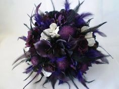 Purple bouquet wedding