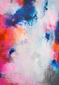 Original pintura abstracta grande arte abstracto por ARTbyKirsten