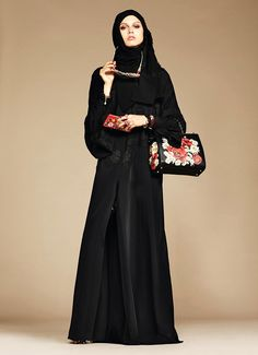Dolce & Gabbana's abaya debut - The Italian fashion brand joins an every-growing list of labels who already create Ramadan-inspired capsule collections including Oscar de la Renta, DKNY, Mango and Tommy Hilfiger, as well as Uniqlo, who entered the market last year with their line of traditional oriental headgear. --- #dolceandgabbana #imageconsultant #silkgiftmilan