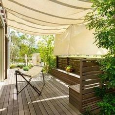 Pin by Park Shin Hye on インテリアガーデン in 2019 Pergola Swing, Deck With Pergola, Pergola Kits, Pergola Ideas, Outdoor Rooms, Outdoor Dining, Outdoor Furniture Sets, Outdoor Decor, Deck Design