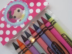 LaLaLoopsy Crayon Birthday Party Favors by CrayonMeCrazy on Etsy, $2.75