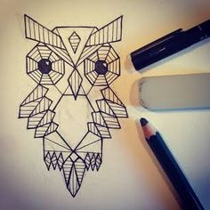 geometric owl - Pesquisa Google                                                                                                                                                      More