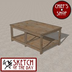 Sketch of the Day: Simple Assembly Bench