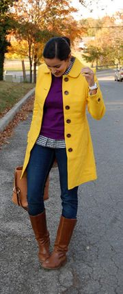 yellow rain coat and boots:| Go Chic or Go Home