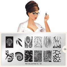moyou Nail Art design Image Plates-pro collection 05 I love the Zebra face. Moyou Stamping, Nail Art Stamping Plates, Nail Plate, Nail Art Designs Images, Nail Stamper, Natural Gel Nails, Nail Stencils, London Nails, Image Plate