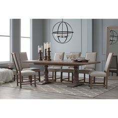 Belham Living Kennedy Trestle Extension Dining Table | from hayneedle.com