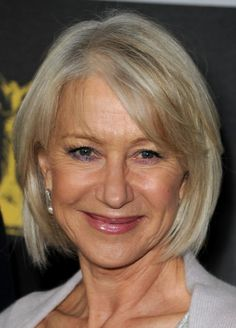 If you have thin hair, keep it short. A few layers will add body to hair, as will the perfect cut. This style on actress Helen Mirren is a great look for her fine, thin hair.