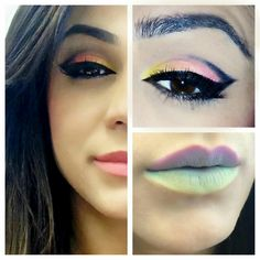 Pretty eye make up! not really liking the lips though