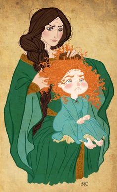 Queen Elinor and Merida - Brave