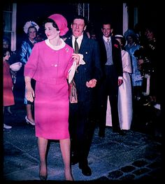Princess Alexandra of Kent and the Hon Angus Ogilvy depart for their honeymoon after their marriage in April, 1963