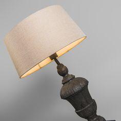 Lámpara de mesa TOTEM con pantalla crema