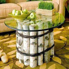 DIY Glass/Wood Table