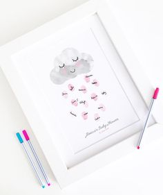 ustomised Baby Shower Fingerprint by BowAndBell