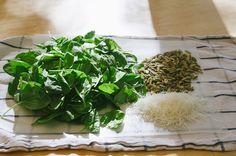 Spinach and Pepita Pesto {Gluten-Free, Vegan and Paleo Option}