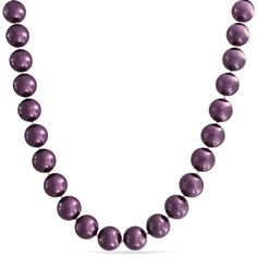 Bling Jewelry Pinot Noir Pearls ($33) ❤ liked on Polyvore featuring jewelry, necklaces, necklaces pendants, pearl-strands, purple, statement necklace, pearl necklace, christmas necklace, bib statement necklace and purple pendant necklace