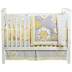 @Overstock.com - BananaFish MiGi Sweet Sunshine 3-piece Crib Bedding Set - The MiGi Sweet Sunshine crib set features a modern floral pattern in yellow and gray. The set includes a soft comforter, dust ruffle, and fitted sheet.  http://www.overstock.com/Baby/BananaFish-MiGi-Sweet-Sunshine-3-piece-Crib-Bedding-Set/6452517/product.html?CID=214117 $111.99