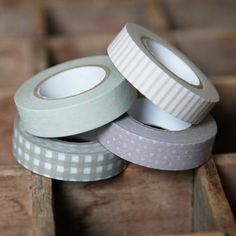 Stuck On You 4-Piece Japanese Masking Tape In Q
