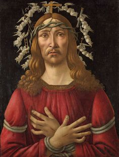 Sandro Botticelli (1444/45-1510), Christ as the Man of Sorrows with a Halo of Angels, Panel, 69 x 51.4 cm, Private collection.