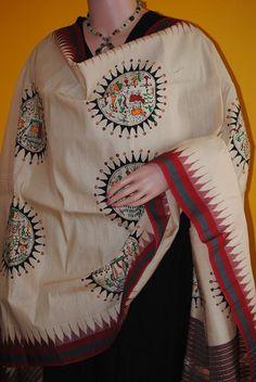 Trending sarees and dupatta - Exclusive Pattachitra silk Saree and dupatta on Vipakka