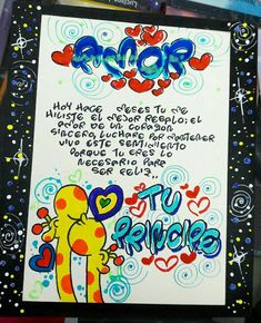 Cartas para el negocio Romantic Night, Pinterest Photos, Love Messages, Stuffed Toys Patterns, Birthday Decorations, Diy Art, Anniversary Gifts, Diy And Crafts, Doodles