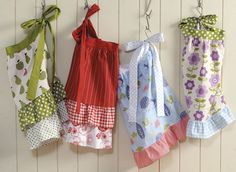 Colorful Half Aprons