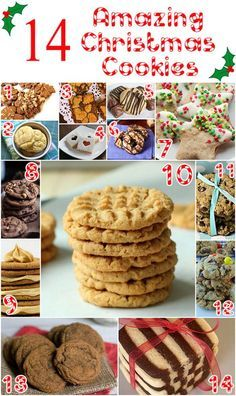 14 Ideas for Holiday Cookies. Great cookies to bake as gifts and thanks during the jolliest time of the year!