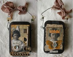 rustic altered tin, via Flickr.    By ~*<3Nancy Maxwell James<3*~  Paper Whimsy