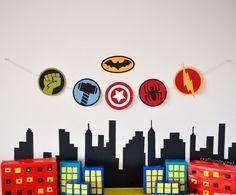 DIY decorado para fiesta infantil de Superheroes