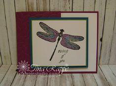 Stampin' Up! Dragonfly Dreams stamp set, Watercolor Pencils, Stampin' Studio
