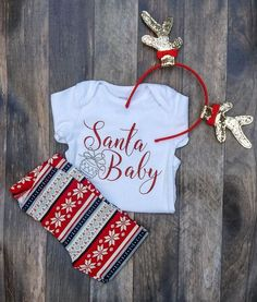 First Christmas Outfit girl, Baby's First Christmas, First Christmas Outfit, Ch. Girls Christmas Outfits, Babies First Christmas, Kids Outfits, Christmas Onsies, Baby Outfits, 1st Christmas, Christmas Baby Clothes, Rock Outfits, Couple Outfits