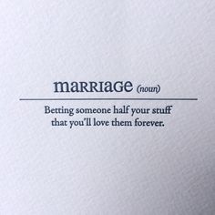 Marriage Letterpress Card