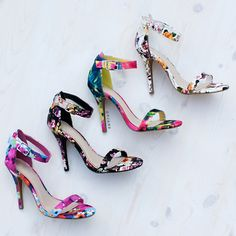 Floral Dream Single-Sole Heels